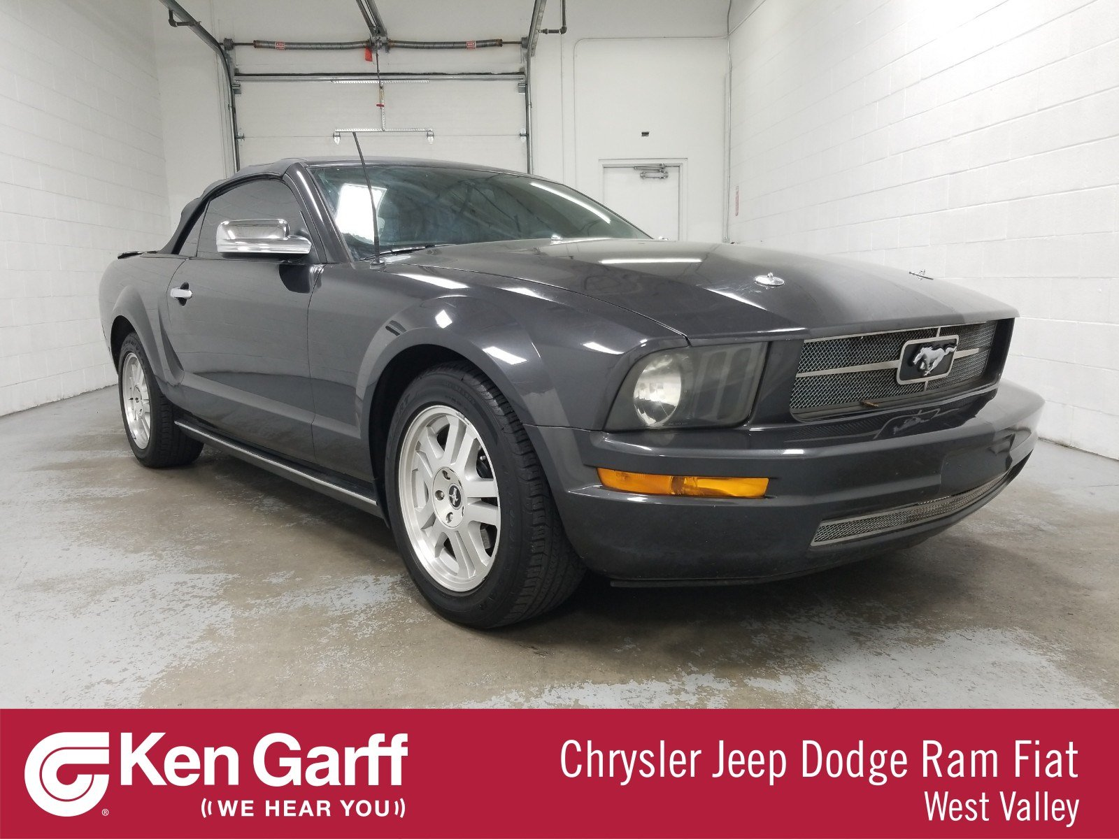 Ken Garff Used >> Pre Owned 2007 Ford Mustang V6 Premium Rwd Convertible